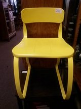 Yellow Metal Chair in St. Charles, Illinois