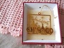 "CHICAGO "" MY KIND OF TOWN"" Gold Plated Ornament! in Bellaire, Texas"