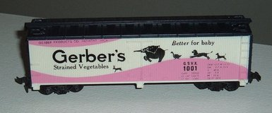 Tyco HO Scale Gerbers Strained Vegetable 40' Billboard Reefer Box Car GSVX 1001 in Plainfield, Illinois