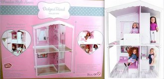 "New!  Wood Dollhouse Kit - DesignAfriend - Fits up to 18+"" dolls in Westmont, Illinois"