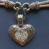 Lia Sophia Love Dust Necklace with Crystal & Silver Heart Pendant in Shorewood, Illinois