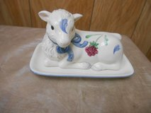 Lenox Poppies on Blue Barnyard Collection Lamb Butter Dish in Kingwood, Texas
