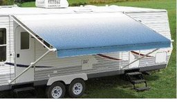 Carefree Fiesta Ocean Blue 21'  Vinyl Roller Assembly RV Canopy  Bruised & Reduced - New! in Chicago, Illinois