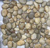 River Rock Marble Mesh-Mounted Mosaic Tile - 22 Square Feet in Oswego, Illinois
