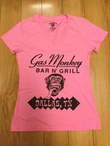Gas Monkey Bar & Grill Dallas TX Women's Short Sleeve T-Shirt Size Large in Plainfield, Illinois