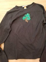 Palm tree stretchy long sleeve shirt in Camp Pendleton, California