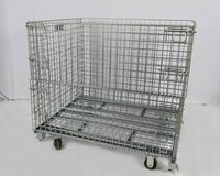 Commercial (Uline) Wheeled (Collapsible) Metal (Wire) Storage Cart in Tacoma, Washington