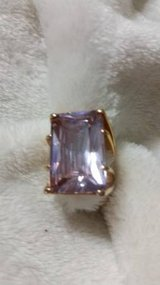 Purple Emerald Cut Solitaire Ring in Kingwood, Texas
