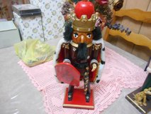 "14"" Wooden Soldier King Nutcracker Figurine with his Sword and Shield! So Cute! in Bellaire, Texas"