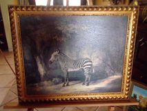 Zebra Painting /Gold Frame in Las Cruces, New Mexico