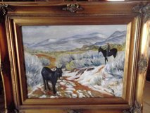 "Oil painting with donkeys in a beautiful ornate frame  22"" W X 18""H in Las Cruces, New Mexico"