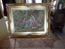 Classic Colonial wood frame with gold leaf 38 inches wide x 30 inches high in Las Cruces, New Mexico