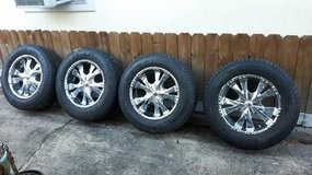 "BZO Big Boss 20"" Chrome Wheels Goodyear Wrangler Tires 275/65r20 in Tomball, Texas"