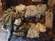 Large Lot Military Camo and digital PLUS Marine water pack in Fort Campbell, Kentucky