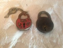 Lot of 2 Antique Steampunk or small box locks in Fort Campbell, Kentucky