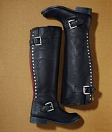 Womens 7 Medium 7M Falls Creek Jillian III Knee High Boot Back Zip Stud Detail Buckle in Yorkville, Illinois