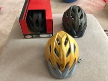 Three Bicycle Helmets in The Woodlands, Texas