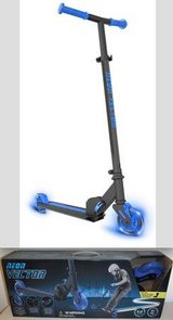 New! Yvolution Neon Blue Vector Foldable LED Light Up Kick Scooter in Orland Park, Illinois