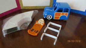 Zhu Zhu Pets Playset Lot 2008 Woody Wagon  Used - Skateboard w/Ramp New - No Pets in Macon, Georgia