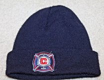 Chicago Fire Soccer Beanie Cap, Embroidered Logos, Navy in Westmont, Illinois