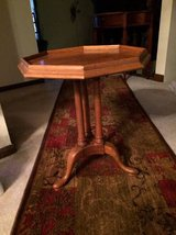 Reduced...Solid Maple Side Table/Plant Stand in Naperville, Illinois