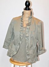 Talbots 2-Piece Set - Tank Top & Jacket, Olive Green, 12 Petite & Med Petite in St. Charles, Illinois
