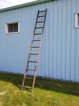 "Wood Ladder 12 Rungs 144"" (12') Weathered VINTAGE ANTIQUE SHABBY CHIC in Naperville, Illinois"