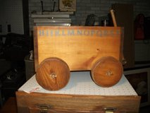ALL HARDWOOD CHILDS PLAY WAGON WITH STORAGE in Naperville, Illinois