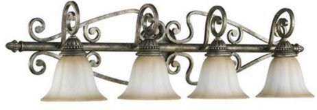 Set of two 4-Light Vanity Light in Mystic Silver (by Quorum Int'l) in Kingwood, Texas