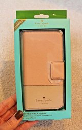 NWT - Kate Spade Leather Wrap Folio iPhone 7s Case, Rose Gold Pink,  MSRP $75 in Shorewood, Illinois