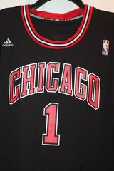 Chicago Bulls Black Jersey -- #1 - Derrick Rose - adidas XL in Glendale Heights, Illinois