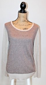 Eddie Bauer 2-Tone Lambswool Blend Crewneck Sweater - Soft! Large in Westmont, Illinois