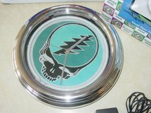 Grateful Dead Neon Wall Clock Steal Your Face 2000 Vandor - Blue Light in Elgin, Illinois