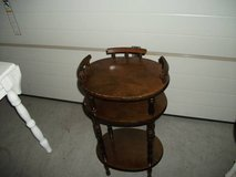 ANTIQUE OCCASIONAL TABLE ALL WOOD in Orland Park, Illinois