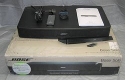 Bose Solo TV Sound System with Original Box and Remote - Model 410376 in Morris, Illinois