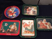 5 Vintage Coca-Cola trays in Vacaville, California