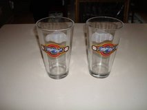 "MINT ""2"" Milwaukee Brewers Miller Park Logo 2-Sided Pint Glasses NOS in Brookfield, Wisconsin"