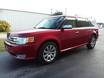 Red 2009 Ford Flex Limited 7-Pass 3 Row SUV V6 Sunroof Leather Loaded! in Camp Lejeune, North Carolina
