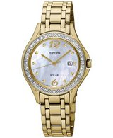 Seiko Womens Solar Gold-Tone Stainless Steel Bracelet Watch 29mm SUT314 in Chicago, Illinois