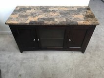 """Faux Marble Top Espresso Finish TV Stand-Fits TVs up to 48"""" in New Lenox, Illinois"""