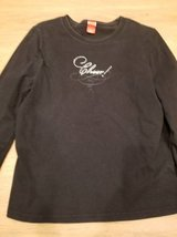 "Black long sleeve ""Cheers"" sparkly shirt in Camp Pendleton, California"