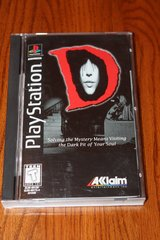 d (sony playstation 1, ps1, 1996) complete - long box - rare in Kingwood, Texas