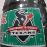 15 Inaugural Season Coke-Cola TEXANS Countdown to Kickoff  Bottles. 02 in Conroe, Texas
