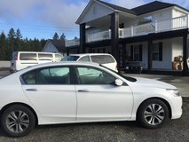 America's beloved car- HONDA ACCORD LX. WHITE WITH BEIGE CLOTH INTERIO in Fort Lewis, Washington