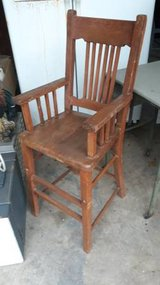 Antique Wood High Chair in Tomball, Texas