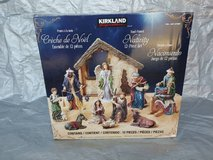 12 PIECE TABLE TOP NATIVITY KIRKLAND CHRISTMAS SET. in Naperville, Illinois