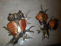 Vintage Home Interior / Homco Metal Art Owl Wall Decor! Set of 2 in Spring, Texas