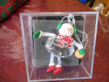 Hand Spun Glass Snowman Ornament in Acrylic case! Pretty and colorful! in Spring, Texas