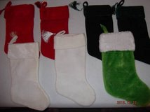 7 Wonderful Crushed Velveteen Christmas Stockings, Brand New in Fort Benning, Georgia