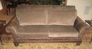 Leather & Fabric Sofa - Clayton Marcus Brand in Naperville, Illinois